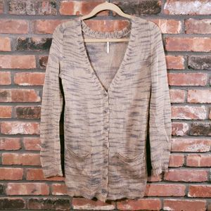 Free People Long Cardigan Sweater Mohair Blend EUC